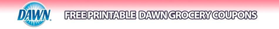 Dawn printable coupons dishwashing liquid