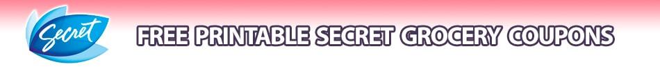 secret deodorant coupons printable