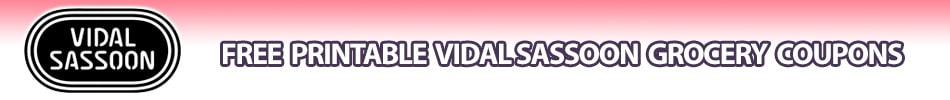 vidal sassoon hair care coupons printable