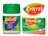 Zyrtec Allergy Medication Coupons